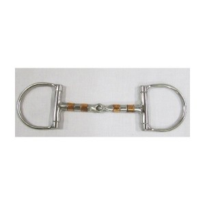 Bits Snaffle Copper Roller D-Ring-67