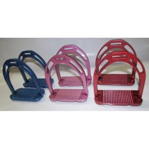 Stirrup irons aluminium wide base-583