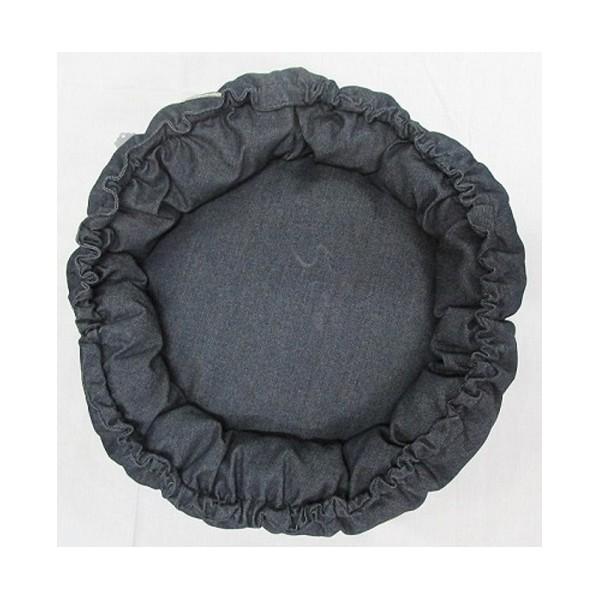 Dog bed grey denim-943