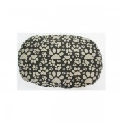 Dog bed paw print oblong-946