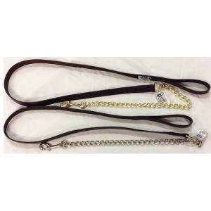 Lead leather with chain-956