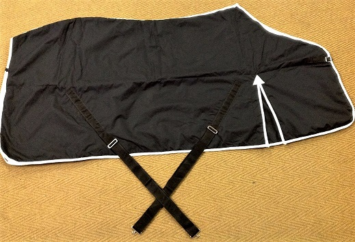 BLK035 Rider Blanket Cotton-lined - Pleats - 1 strap